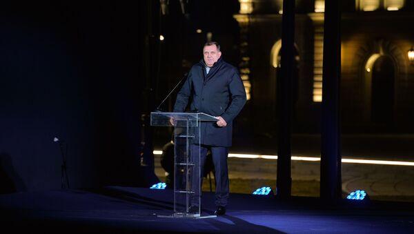 Милорад Додик на свечаном откривању споменика Стефану Немањи - Sputnik Србија