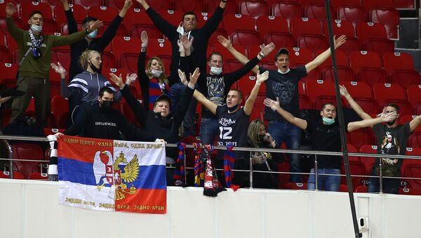 Detalj sa utakmice Lokomotiva Partizan u Krasnodaru - Sputnik Srbija