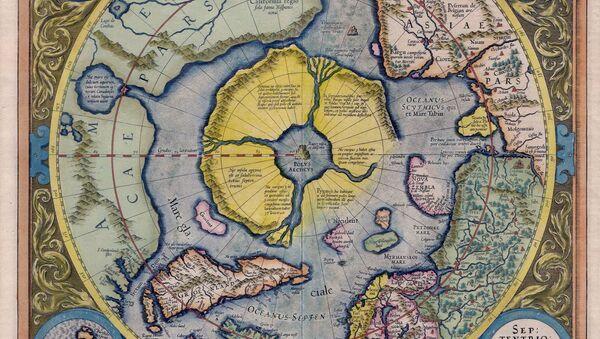 Арктички континент на карти Герарда Меркатора 1595. године, Хипербореја - Sputnik Србија