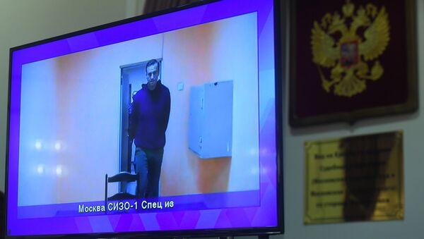 Руски опозиционар Алексеј Наваљни у притвору у Москви - Sputnik Србија