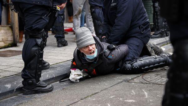 Протест у Бриселу - Sputnik Србија
