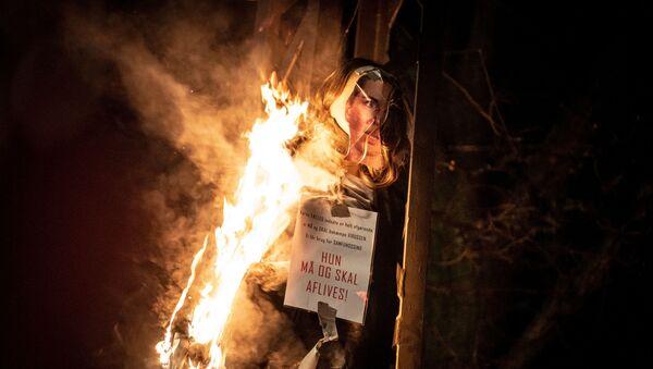 Протести против корона мера у Данској - Sputnik Србија
