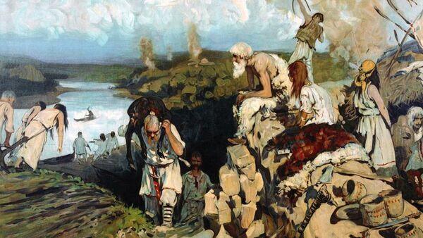 Slika Život istočnih Slovena ruskog slikara Sergeja Ivanova - Sputnik Srbija