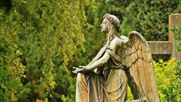 Statua anđela na groblju - Sputnik Srbija