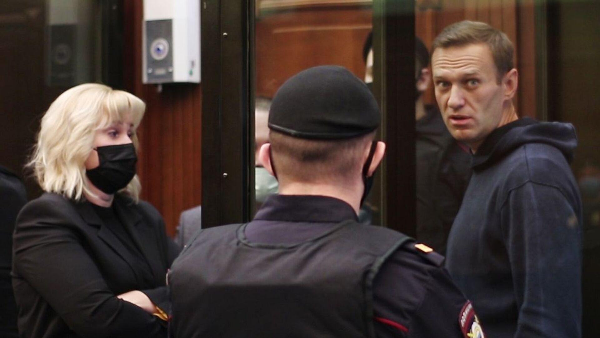 Руски опозиционар Алексеј Наваљни на суду у Москви - Sputnik Србија, 1920, 05.02.2021