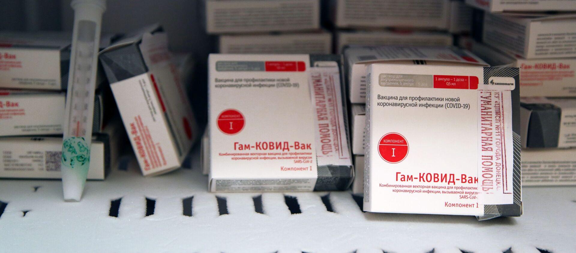 Kutije sa vakcinom protiv kovida Sputnjik Ve u komori za skladištenje - Sputnik Srbija, 1920, 09.02.2021