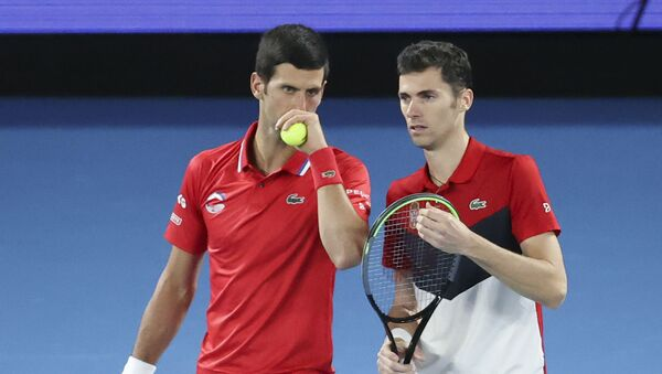 Novak Đoković i Nikola Ćaćić protiv Nemačke - Sputnik Srbija