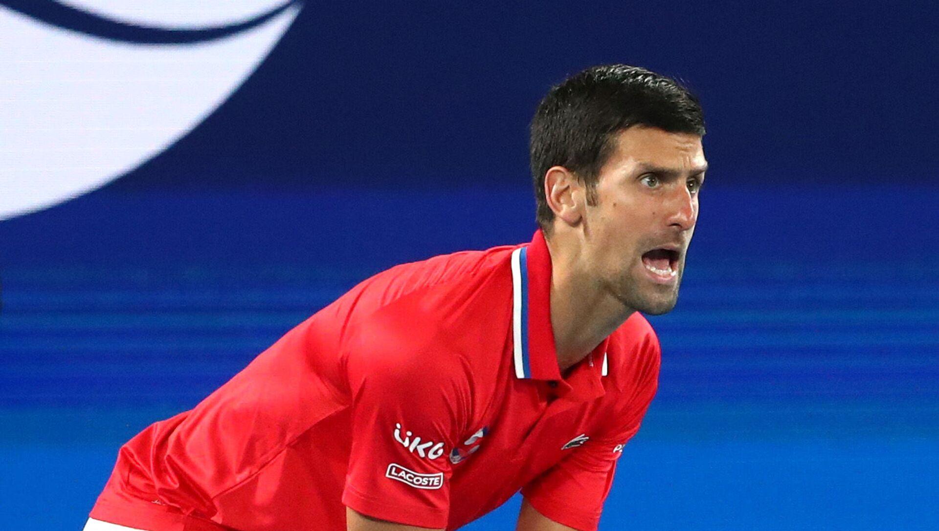 Novak Đoković tokom meča protiv Nemačke na ATP kupu - Sputnik Srbija, 1920, 05.02.2021
