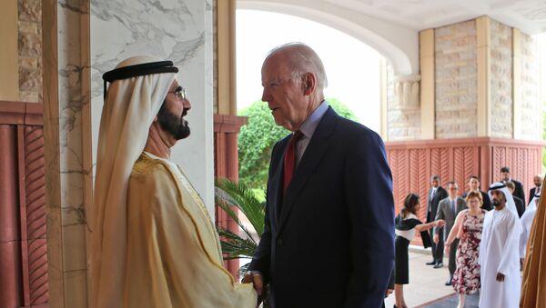 Џо Бајден и шеик Мухамед бин Рашид ел Мактум у Дубаију - Sputnik Србија