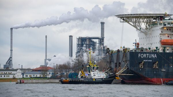 Brod za polaganje gasovodnih cevi Fortuna - Sputnik Srbija