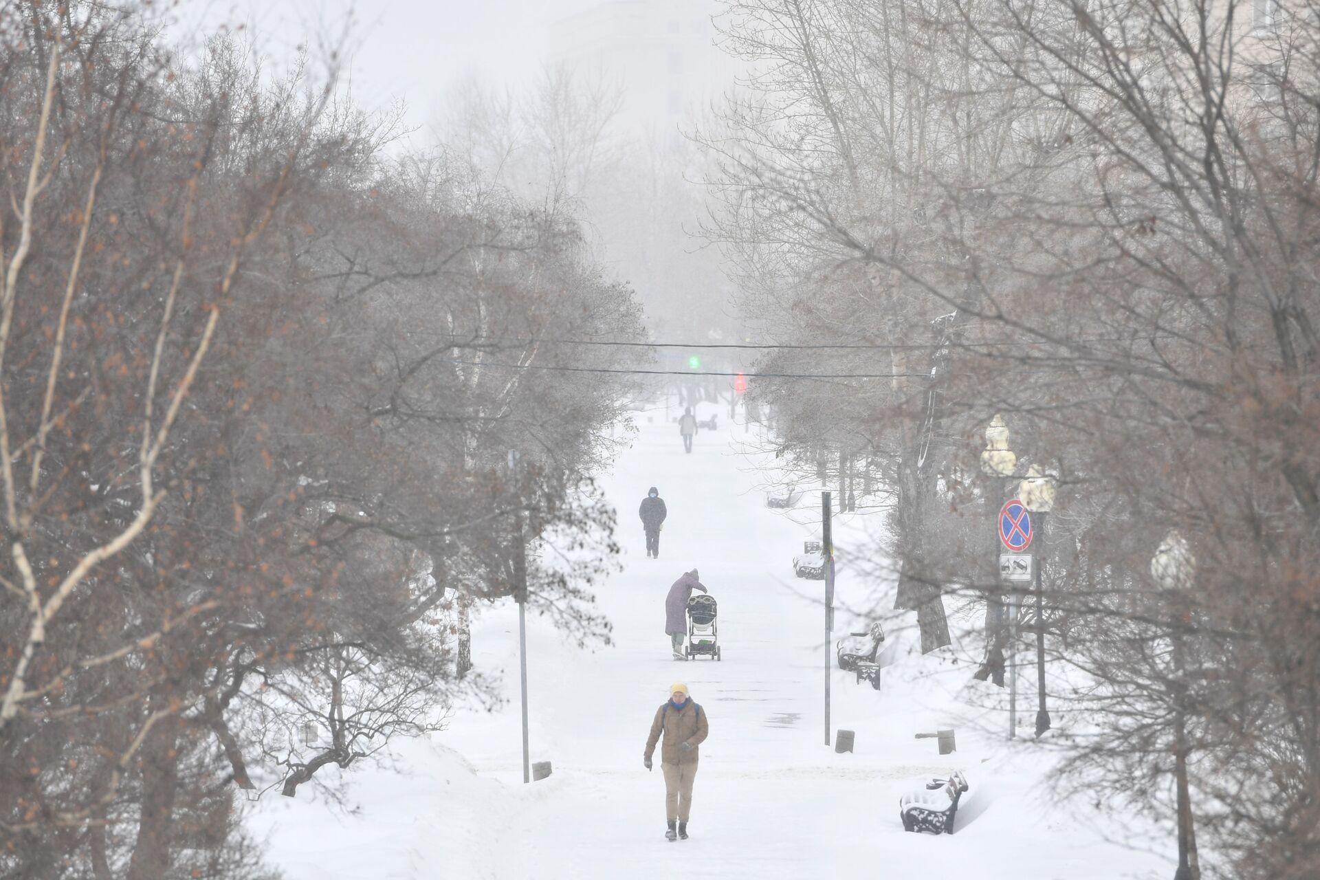 Снежна мећава у Москви, 60.000 комуналаца покушава да спречи колапс града /фото/ - Sputnik Србија, 1920, 12.02.2021