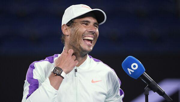 Шпански тенисер Рафаел Надал после победе у трећем колу Аустралијан опена - Sputnik Србија