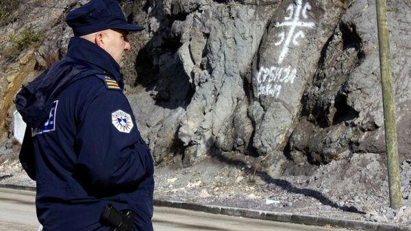 Kosovska policija na prelazu Jarinje - Sputnik Srbija