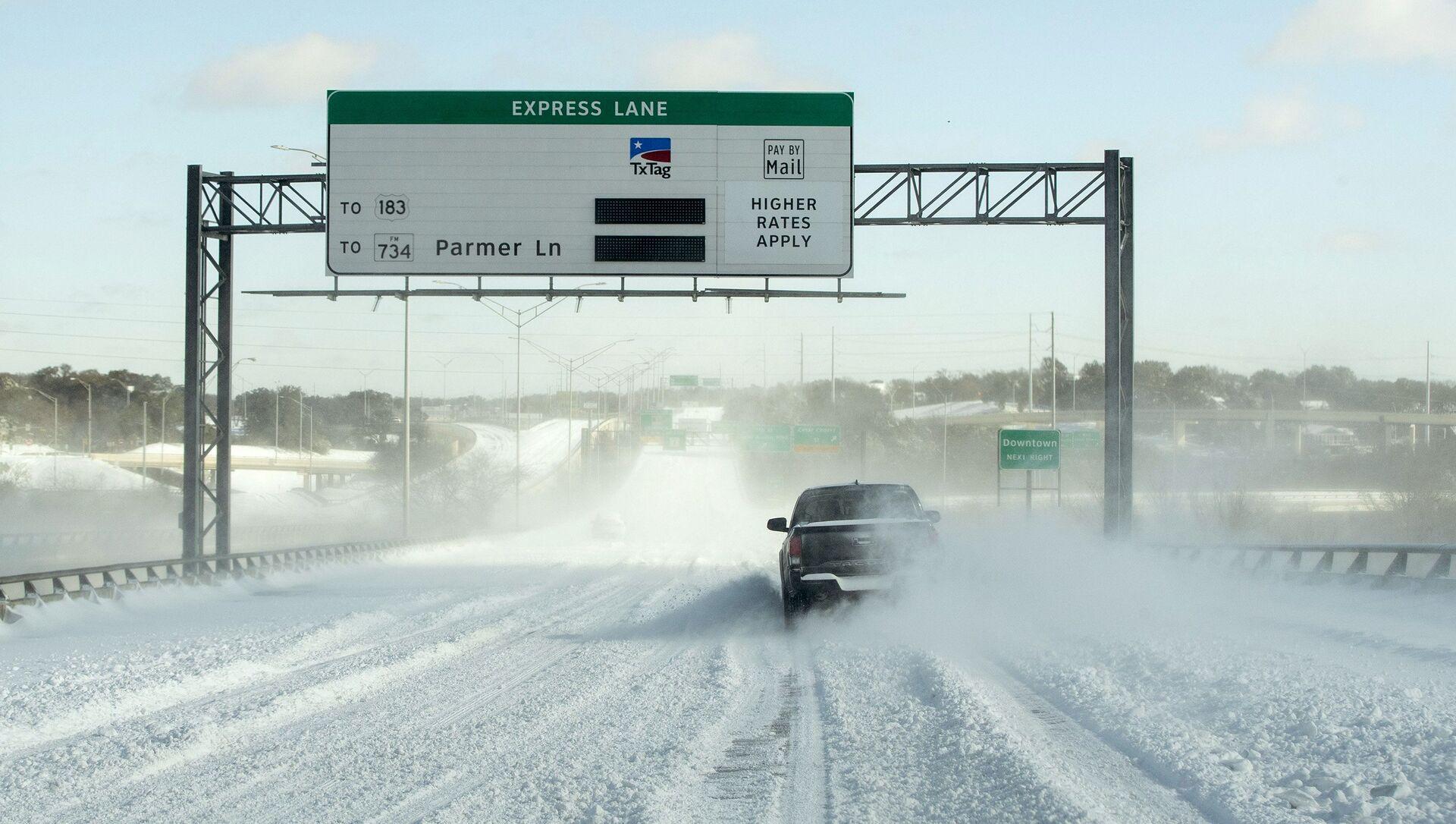 Snežno nevreme pogodilo je Teksas, zbog čega su mnogi domovi ostali bez struje i vode - Sputnik Srbija, 1920, 11.03.2021