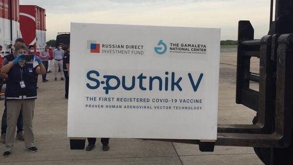Pakovanje ruske vakcine protiv kovida Sputnjik Ve - Sputnik Srbija