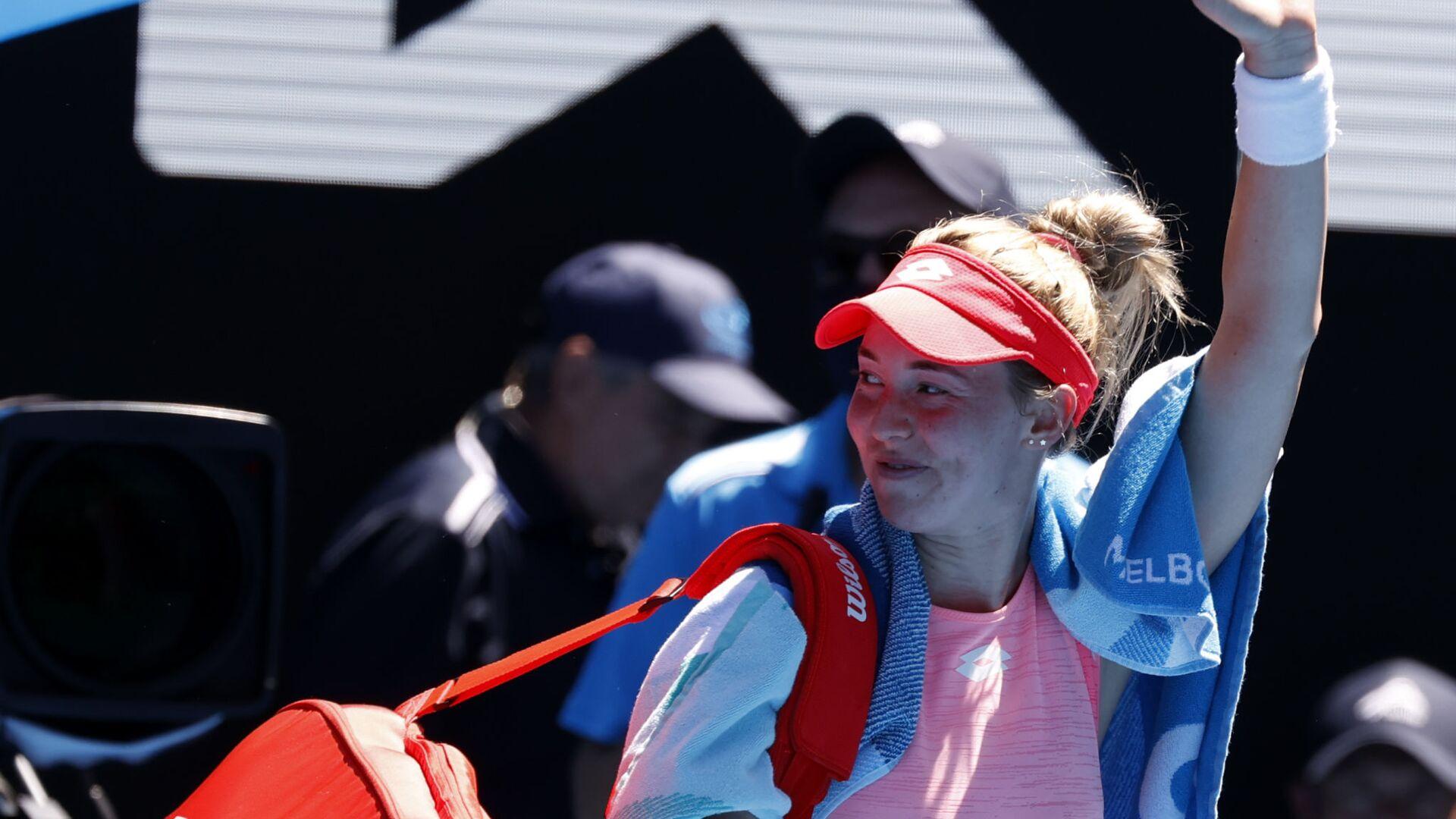 Srpska teniserka Nina Stojanović posle poraza od Serene Vilijams na Australijan openu 2021. - Sputnik Srbija, 1920, 24.07.2021
