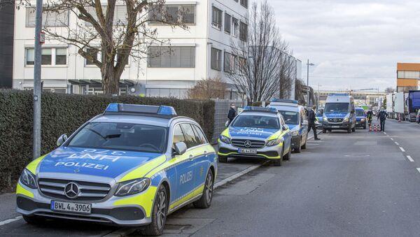 Немачка полиција на месту експлозије бомбе у Лидлу - Sputnik Србија