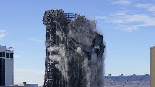 Rušenje nekadašnjeg hotela Tramp plaza u Atlantik Sitiju - Sputnik Srbija