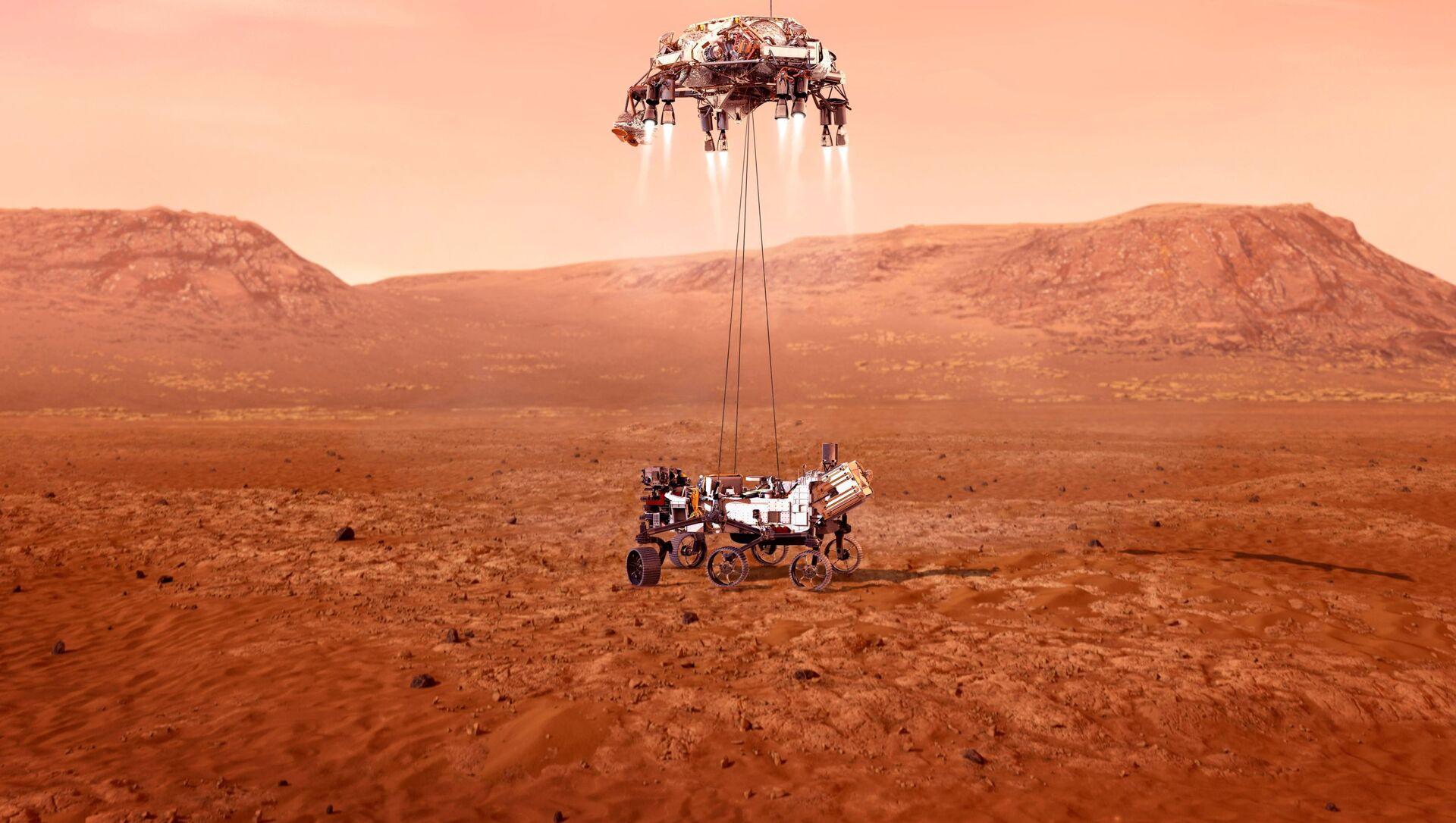 "Rover ""Istrajnost"" sleće na Mars - Sputnik Srbija, 1920, 18.02.2021"