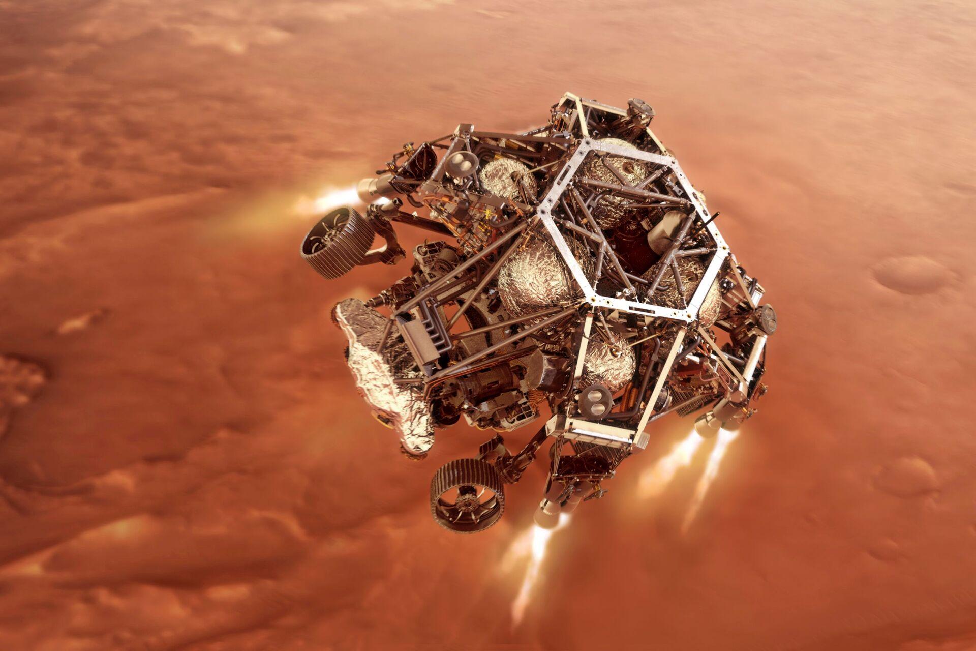 Rover sleće na krater na Marsu nazvan po maloj opštini u Republici Srpskoj /foto/ - Sputnik Srbija, 1920, 18.02.2021