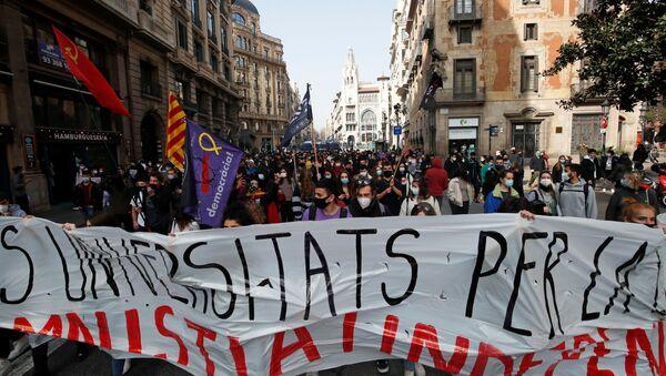 Protesti u Barseloni u znak podrške uhapšenom reperu - Sputnik Srbija
