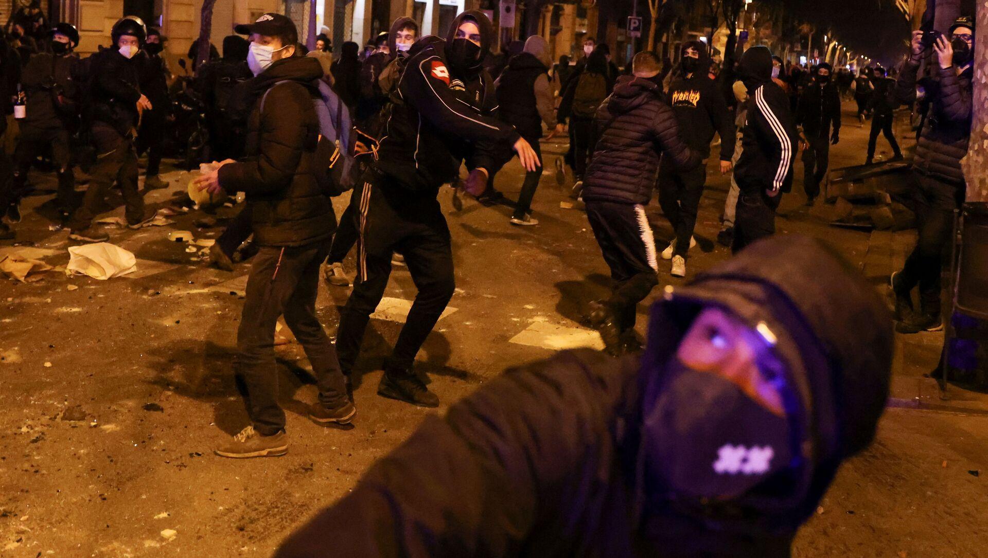 Protesti u Barseloni - Sputnik Srbija, 1920, 19.02.2021