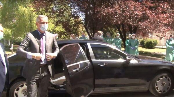 Мило Ђукановић и његов аутомобил мерцедес мајбах - Sputnik Србија