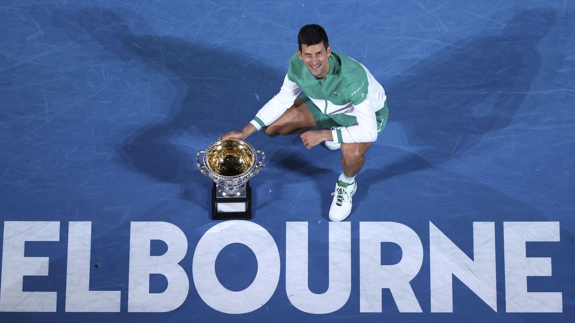 Novak Đoković nakon osvajanja Australijan opena 2021. - Sputnik Srbija, 1920, 08.10.2021