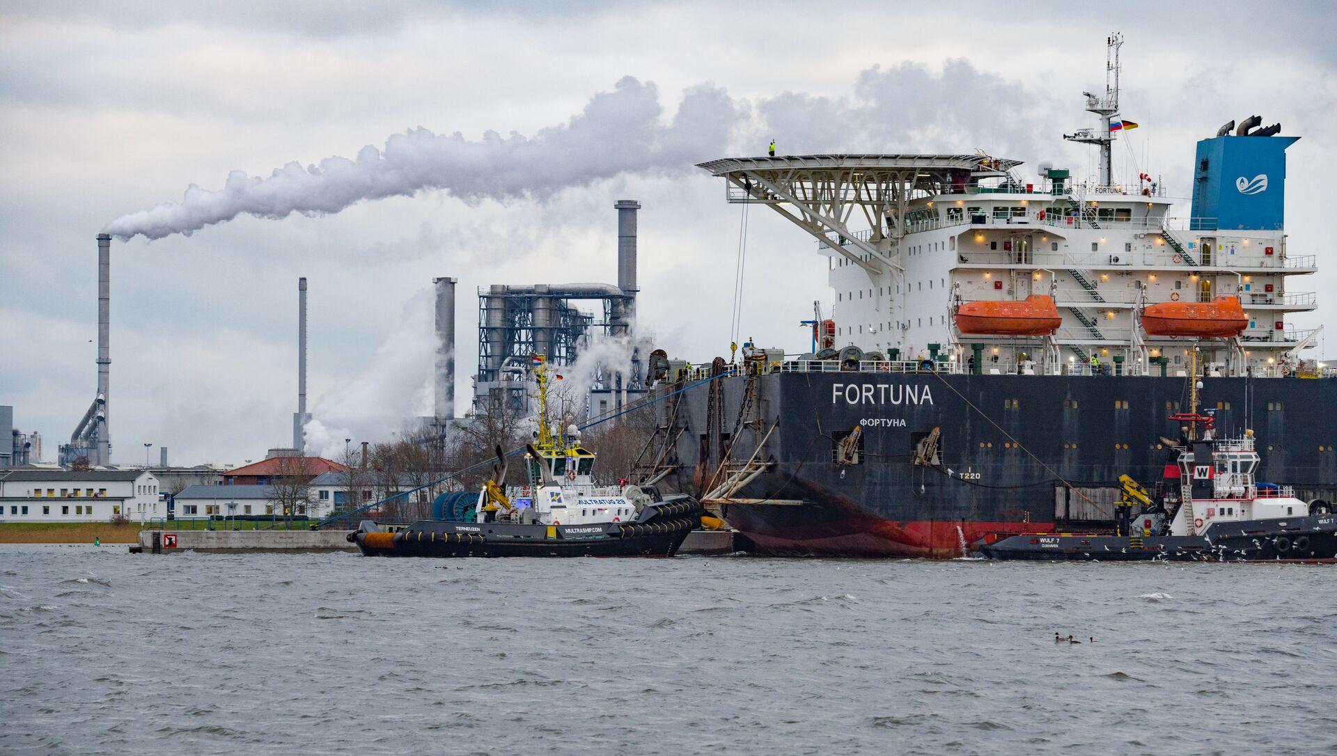 Брод за постављање гасоводних цеви Фортуна у луци Висмар - Sputnik Србија, 1920, 05.05.2021