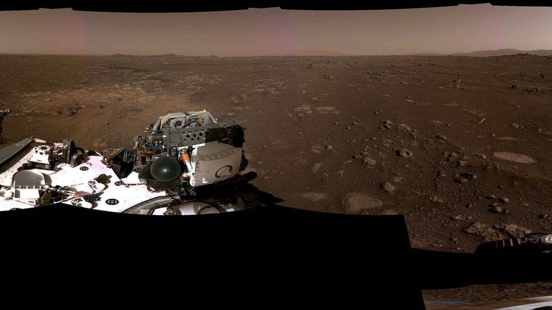 """Fotografija koju je NASA objavila snimljena je 20. februara 2021. roverom """"Perezeverans"""" - Sputnik Srbija, 1920, 13.09.2021"""