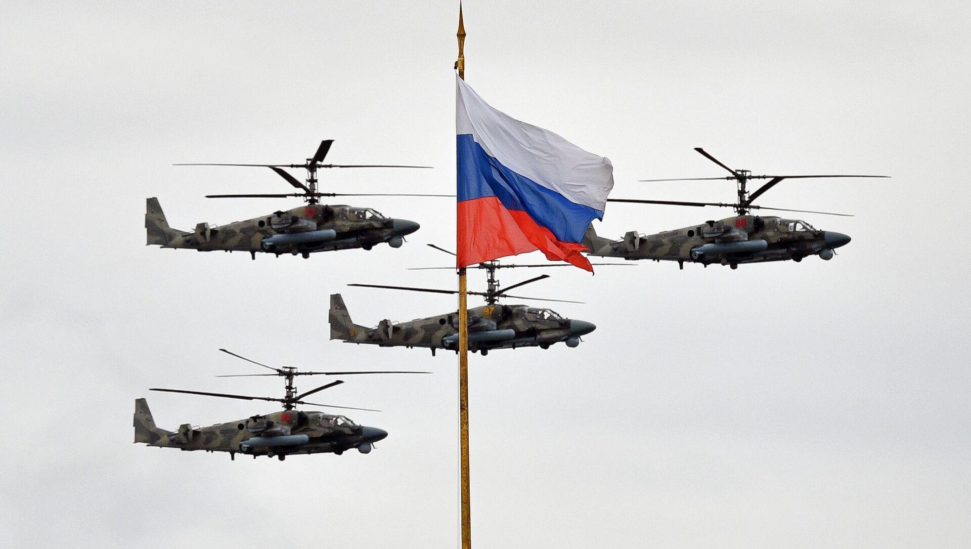 Хеликоптери Ка-52 Алигатор на ваздушној паради Победе у Москви - Sputnik Србија, 1920, 23.02.2021