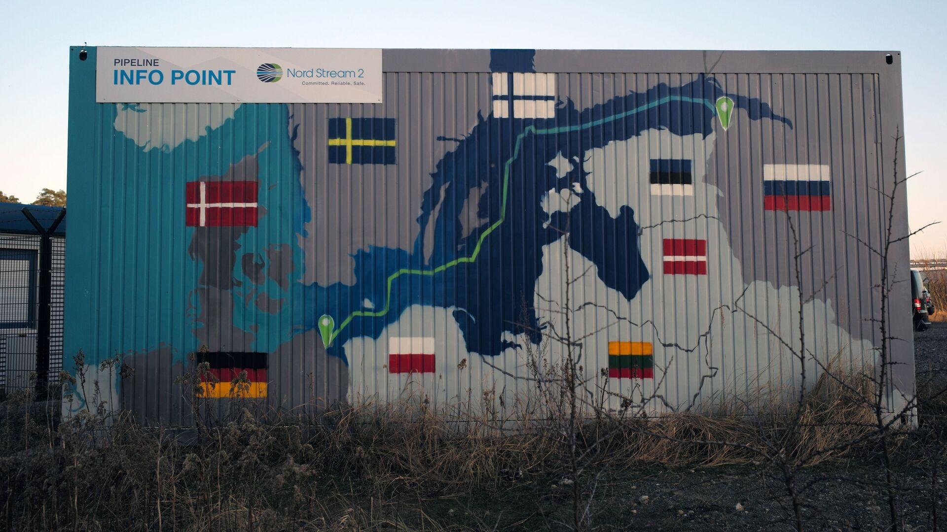 Објекти гасовода Северни ток 2 у граду Љубмин у Немачкој - Sputnik Србија, 1920, 27.04.2021