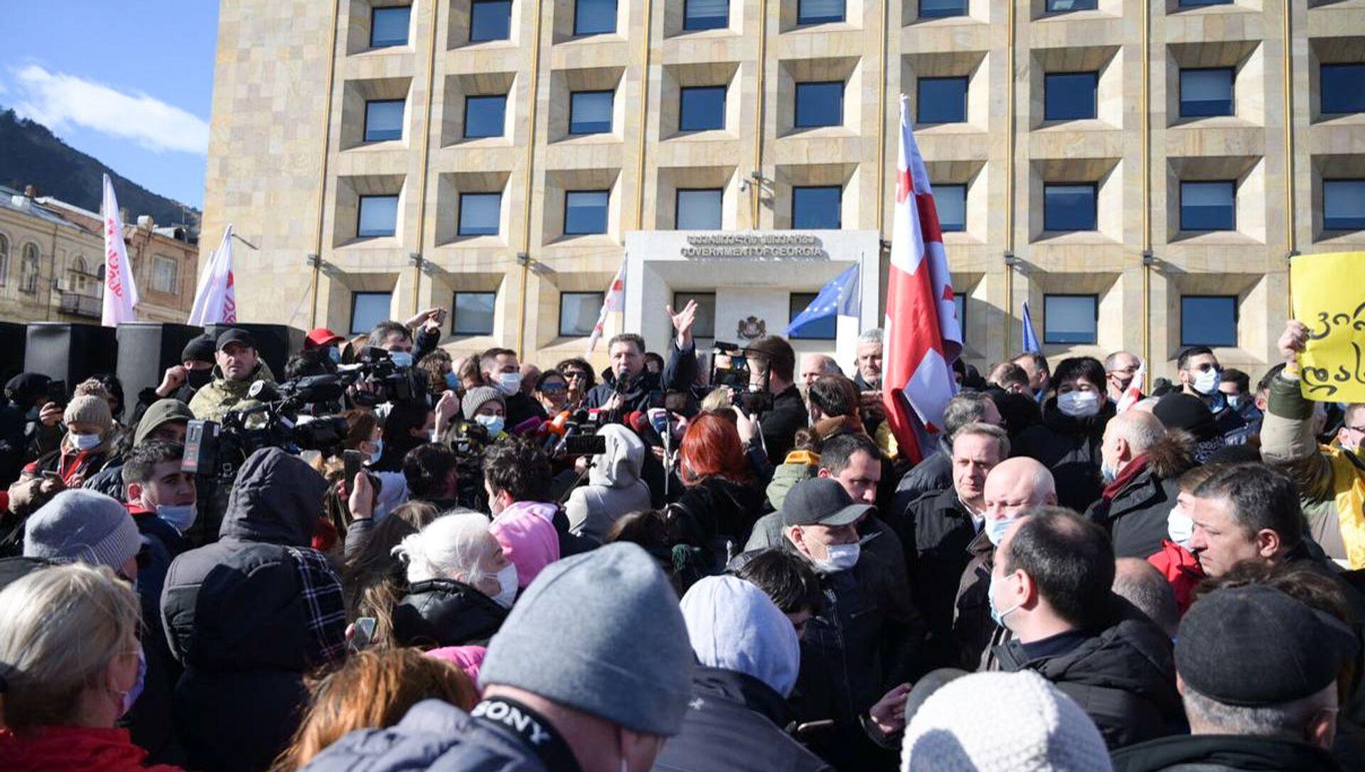Tbilisi: Uhapšen opozicioni lider, protesti u centru grada /video/ - Sputnik Srbija, 1920, 23.02.2021