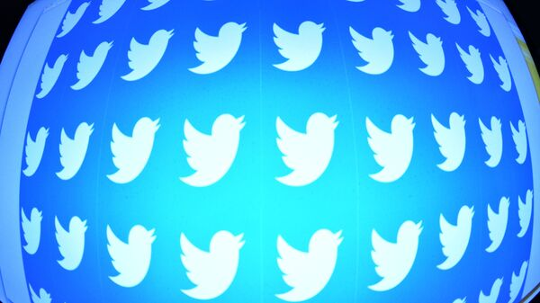 Лого друштвене мреже Твитер на екрану телефона - Sputnik Србија