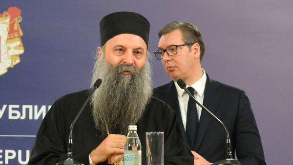 Patrijarh Porfirije i Aleksandar Vučić - Sputnik Srbija