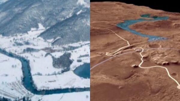 Сличност је запањујућа - Језеру у Републици Српској и Језеро на Марсу - Sputnik Србија