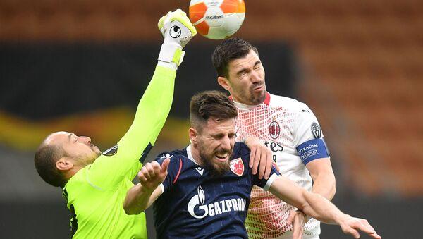 Детаљ са утакмице Милан – Црвена звезда - Sputnik Србија