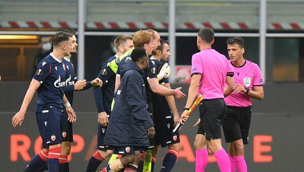 Фудбалери Звезде незадовољни одлуком судије Манцана - Sputnik Србија