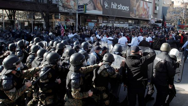 """Protesti u Skoplju posle izricanja presude u slučaju """"Monstrum"""" - Sputnik Srbija"""