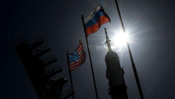 Заставе Русије и САД на космодрому Бајконур - Sputnik Србија