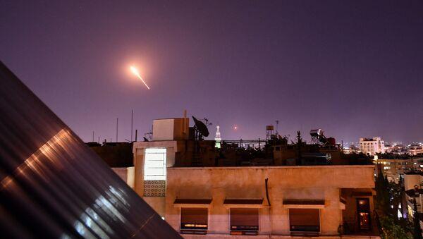 Пресретање израелских ракета изнад Дамаска - Sputnik Србија