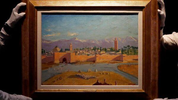 Slika pejzaža iz Maroka Vinstona Čerčila - Sputnik Srbija