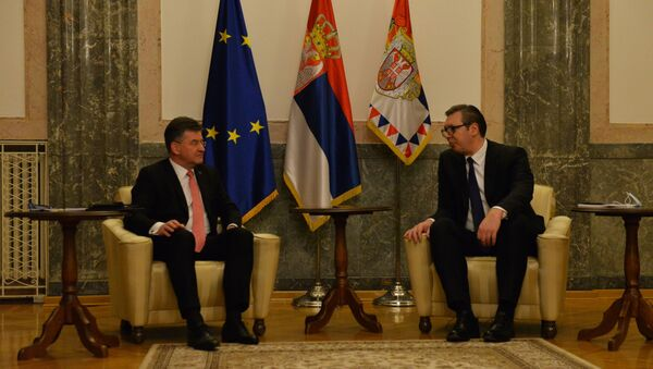 Sastanak predsednika Vučića sa specijalnim predstavnikom Evropske unije Miroslavom Lajčakom - Sputnik Srbija