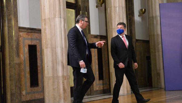 Aleksandar Vučić i Miroslav Lajčak - Sputnik Srbija