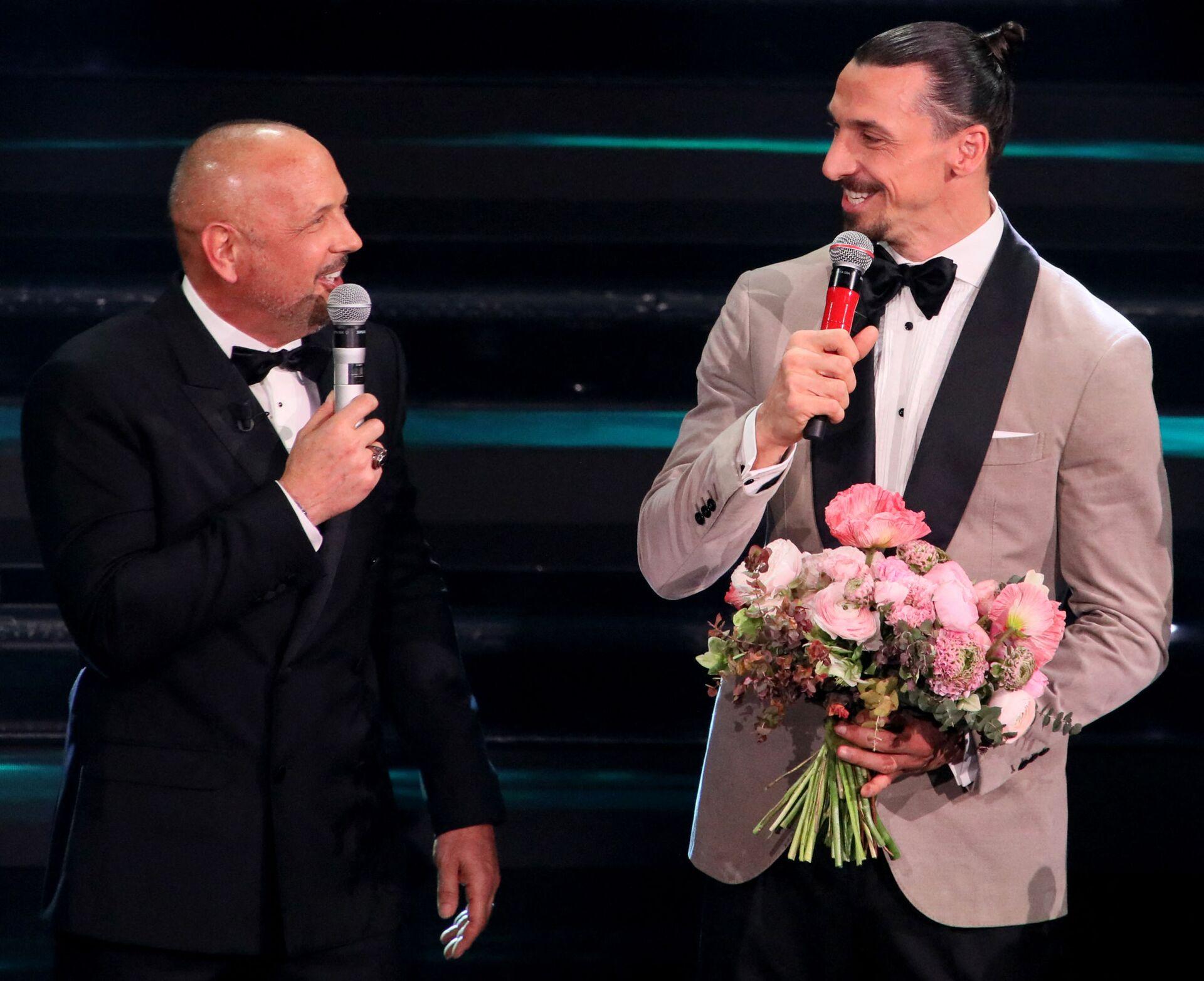 Миха и Златан се појавили на Санрему и направили шоу /видео/ - Sputnik Србија, 1920, 05.03.2021