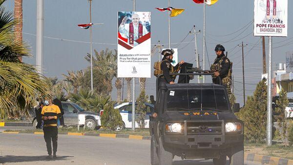 Безбедносне снаге патролирају улицама пред долазак папе Фрање у Ирак - Sputnik Србија
