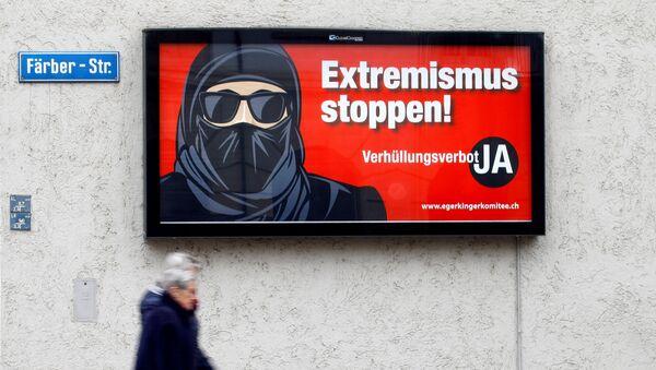 Plakat inicijativnog odbora protiv nošenja burke u Švajcarskoj - Sputnik Srbija