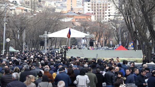 Протест присталица јерменске опозиције у Јеревану - Sputnik Србија