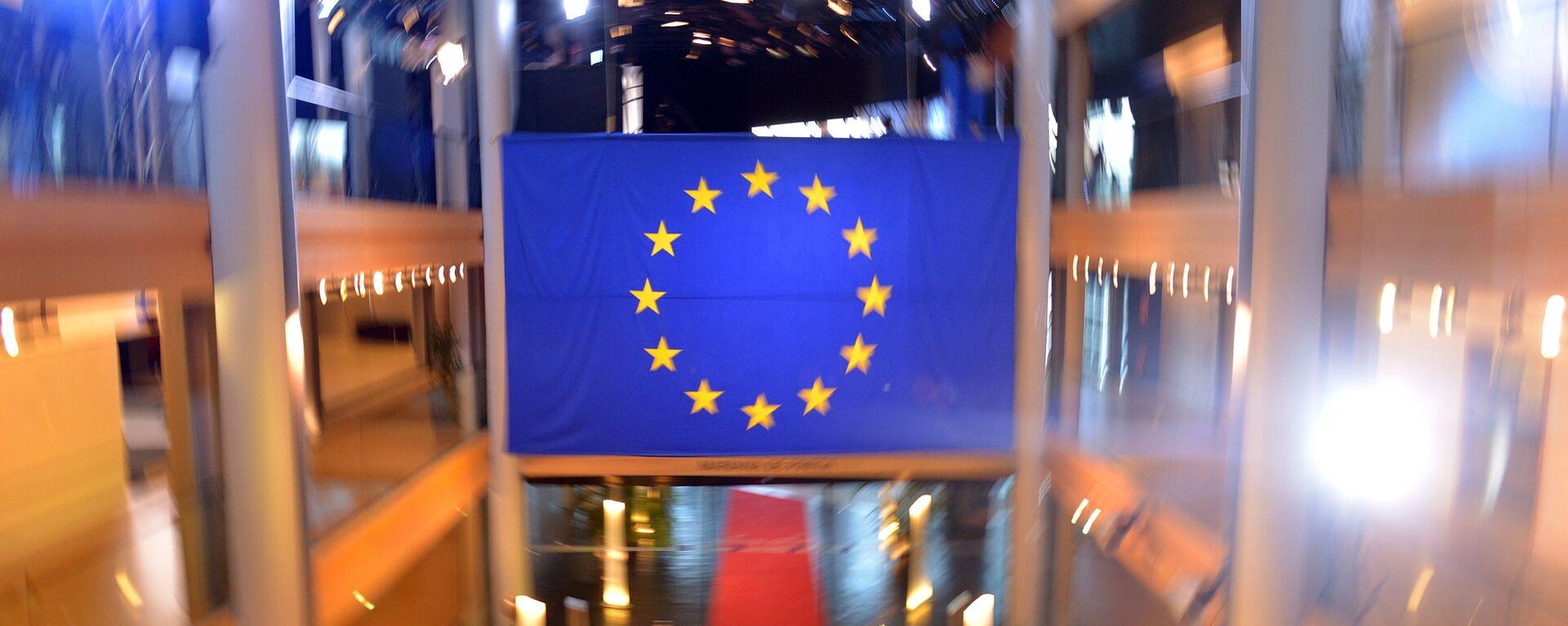 Zastava Evropske unije u zgradi Saveta Evrope u Strazburu - Sputnik Srbija, 1920, 28.09.2021