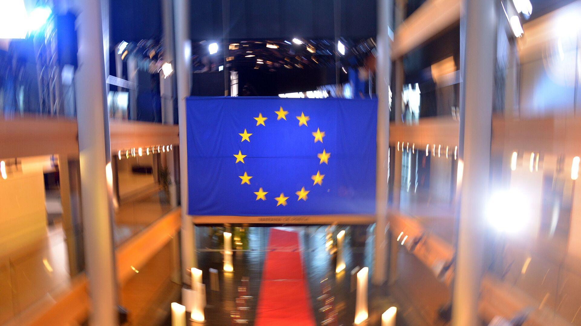 Застава Европске уније у згради Савета Европе у Стразбуру - Sputnik Србија, 1920, 25.03.2021